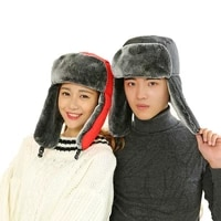 new 2020 high quality winter man hats russian hat sport ear flapsmasks bomber lei feng caps flaps caps for men