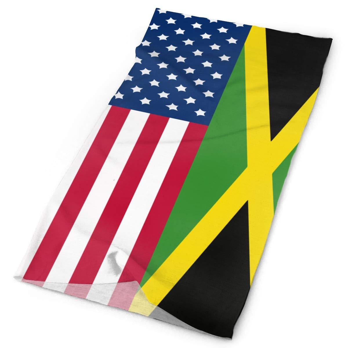 SHINYWEET, bandera americana jamaicana para exteriores y sombreros de uso diario, 16 formas de vestir, diadema, polainas de cuello, Bandana, casco