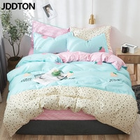 JDDTON 2020 New Bedding Set Classic 4pcs/set Bed Linen Duvet Cover Set AB Side Bed Sheet Set Pillowcase Cover BE039