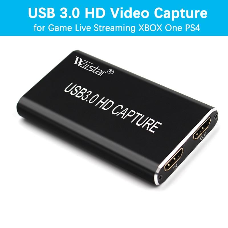 USB 3.0 فيديو التقاط HDMI إلى USB 3.0 نوع-C 1080P HD التقاط الفيديو بطاقة للتلفزيون PC PS4 لعبة الحية تيار للنوافذ لينكس Os X