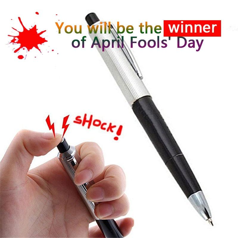 Electric Shock Toy Ball Point Pen Shocking Gift Joke Fun Writable Novelty Writable Electric Pen Prank Interesting Gags Toys