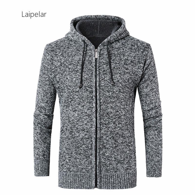 Новинка 2020, зимние модные брендовые мужские свитера, пуловеры, вязаные толстые теплые приталенные высококачественные Повседневные вязаные...