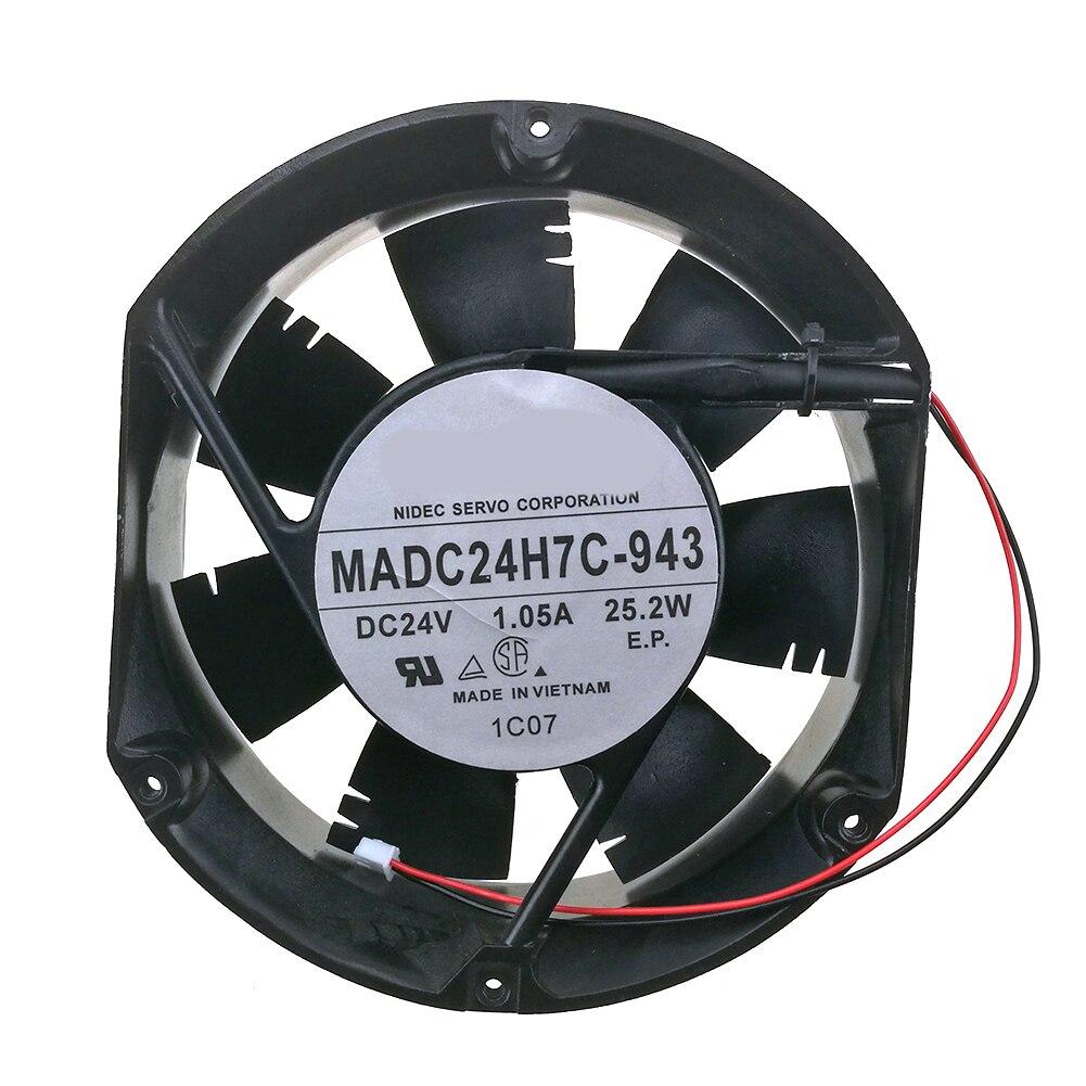 المعالج برودة ل سيرفو MADC24H7C-943 24 فولت 1.05A 25.2 واط 17 سنتيمتر العاكس مروحة التبريد