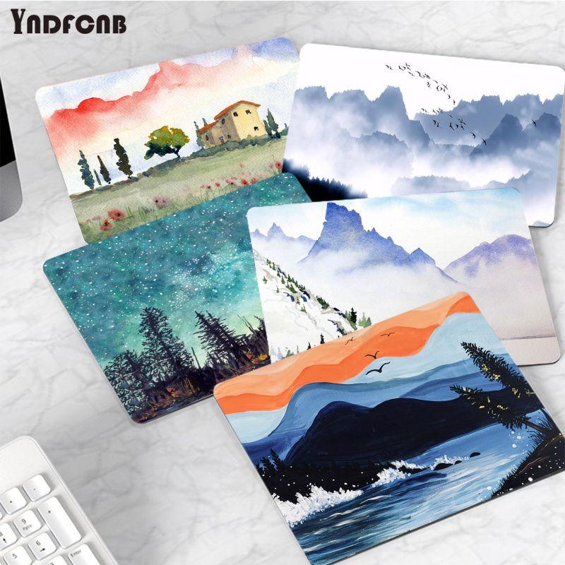 YNDFCNB простой дизайн, Горный пейзаж, маленький коврик для мыши, компьютерный коврик для ПК, гладкий коврик для письма, настольные компьютеры, ...