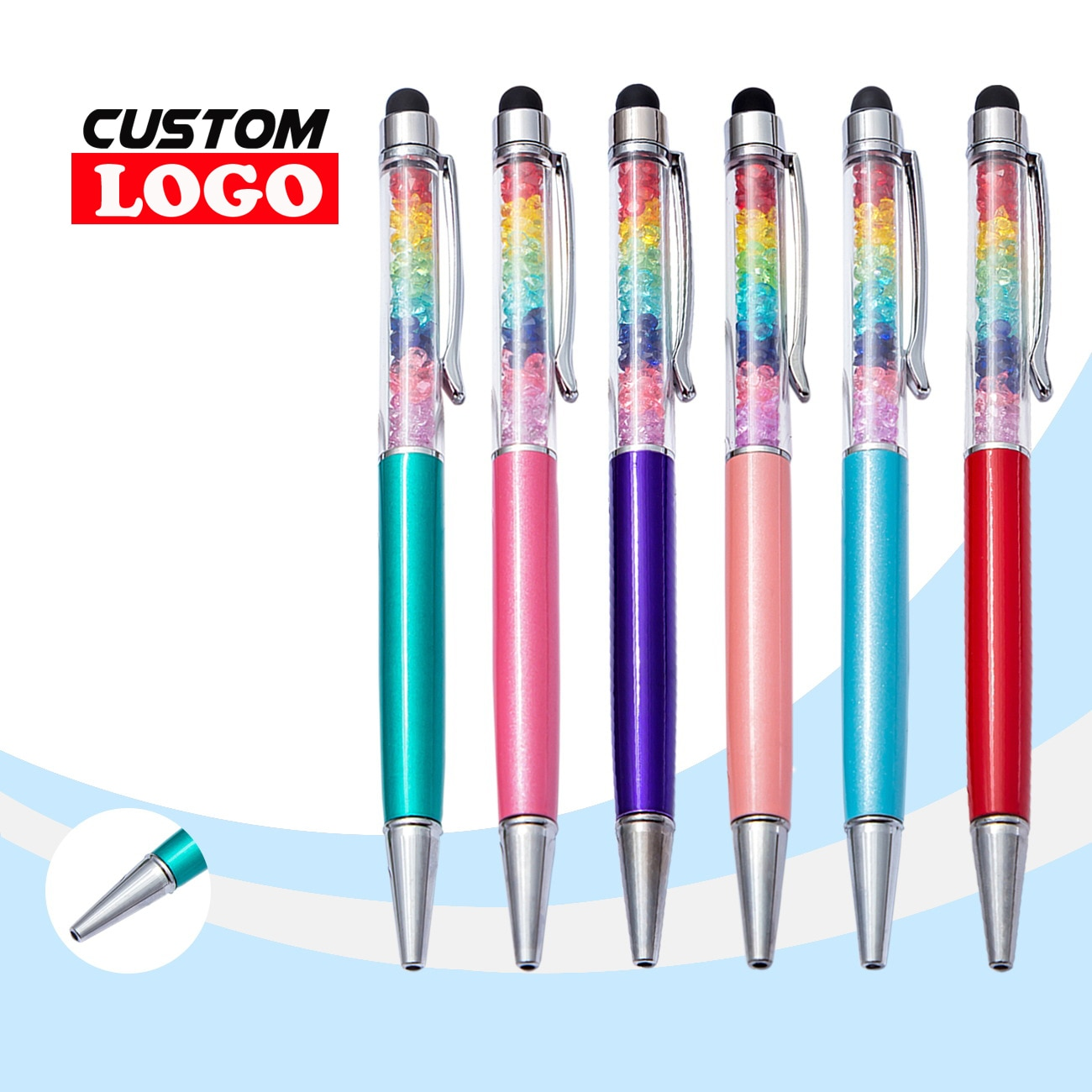 1000pcs-lot-2-in-1-rainbow-ballpoint-pen-universal-stylus-drawing-touch-screen-for-ipad-tablet-android-smartphone-accessories