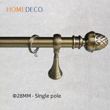 Poteau de tringle à rideau en alliage daluminium noir or simple Double pôle sculpter les tringles à rideaux romaines accessoires de support de piste personnalisés