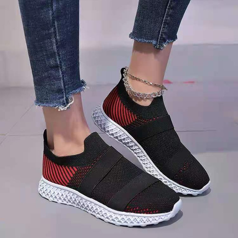 Summer Vulcanized Flats Women Sneakers Ladies Solid Color Shoes Casual Female Sports Flat Hollow Mesh Shoes for women 2021 2021 women casual flats shoes female hollow breathable mesh summer women s sneakers ladies sneakers women shoes shoes women