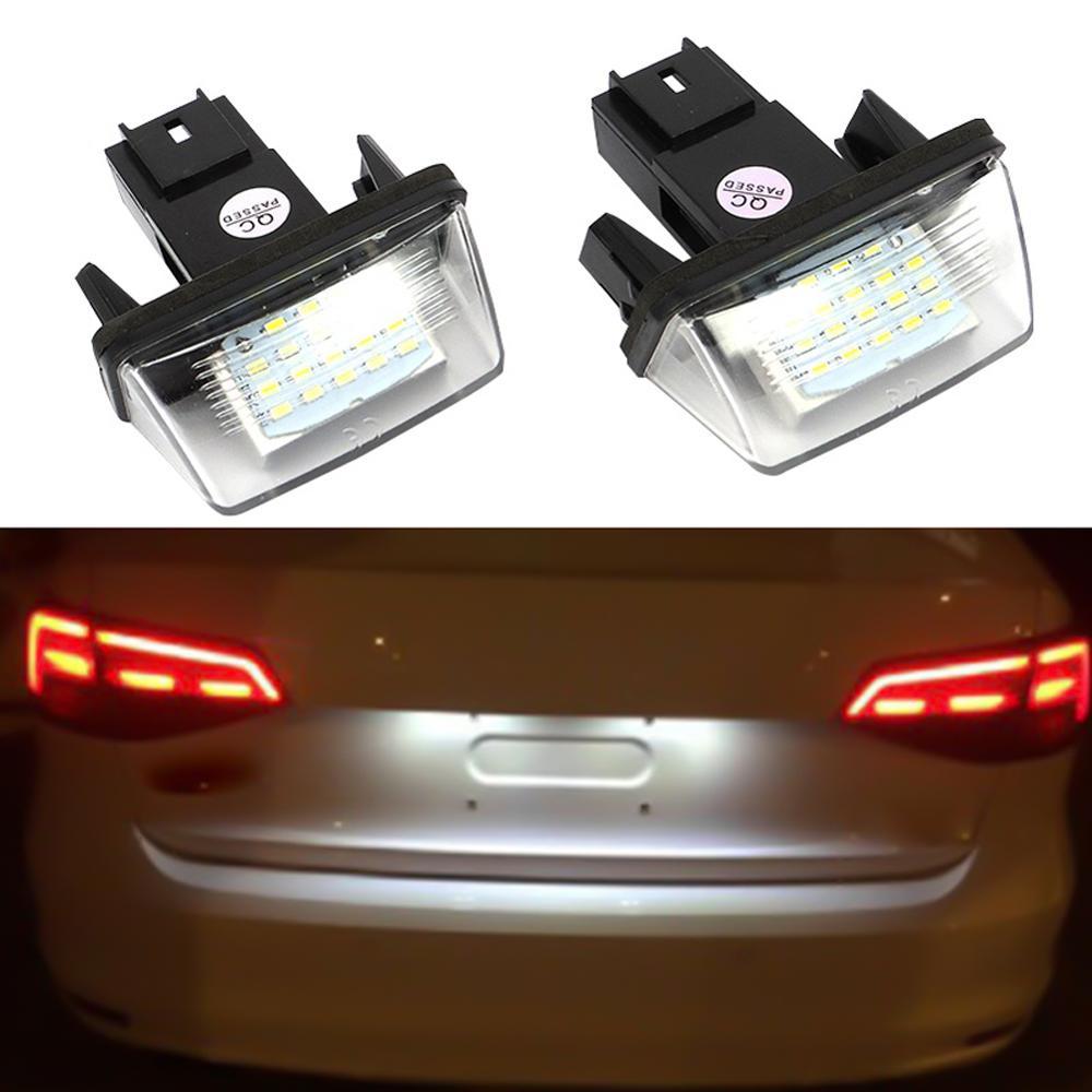 2 uds 18 LED de las luces de la matrícula de lámpara para Peugeot 206, 207, 307, 308, 406 Citroen C3/C4/C5/C6