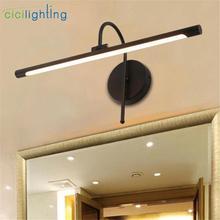 Lumière moderne noire argentée de vanité de LED, lampe en aluminium dimage de mur pour des appareils déclairage de vanité de salle de bains 3000K 6000K blanc froid