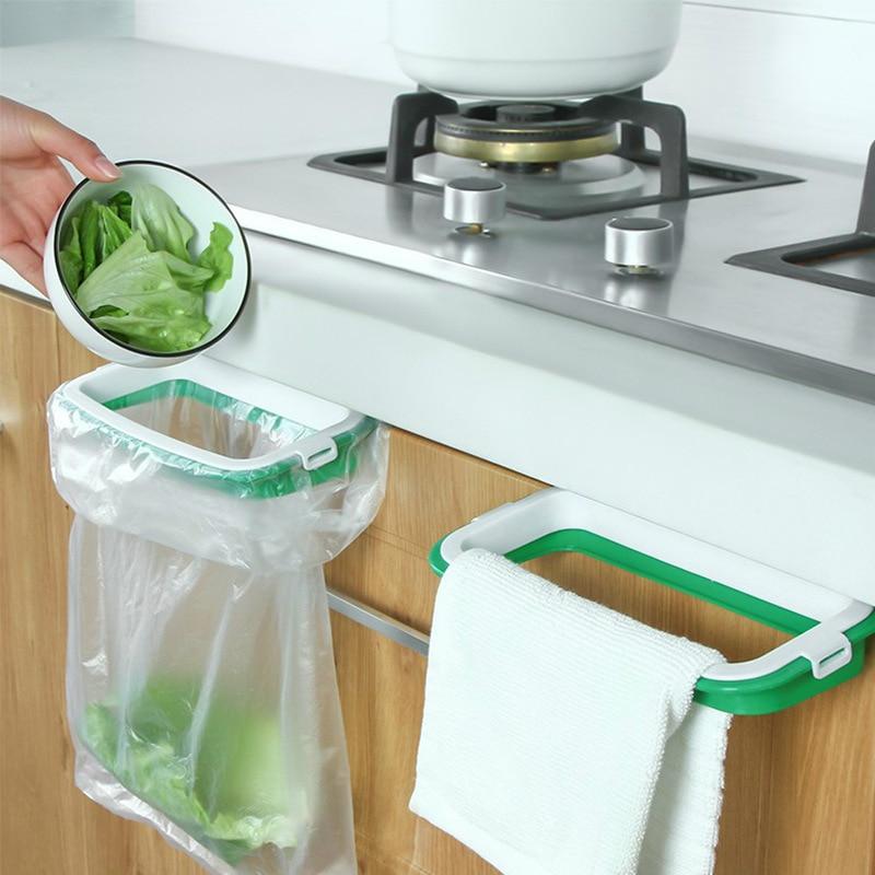 AliExpress - Garbage Bag Holder Kitchen Cabinet Door Garbage Trash Bags Bracket Rack Waste Bin Garbage Rack Tools Storage Holders Trash Racks