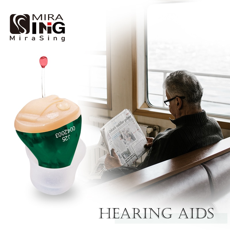 Portable Audifonos Best Hearing Aids J25 Mini Invisible Hearing Amplier Inner Ear Deaf Low Noise Hea
