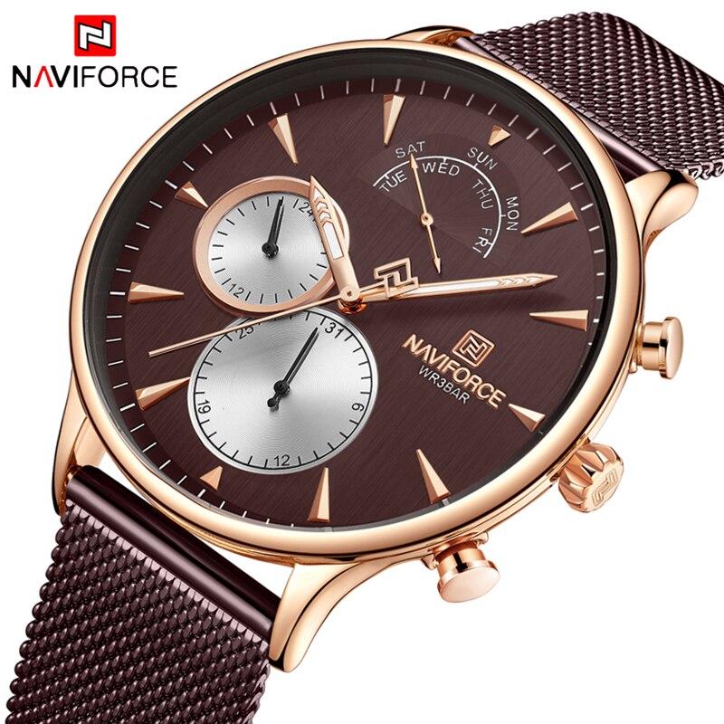 Часы наручные NAVIFORCE Мужские кварцевые в стиле милитари модные брендовые