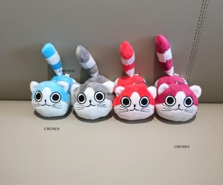 Sweet New 10CM , 4Colors , Cat Animal Toys , Plush Stuffed key chain TOY Doll