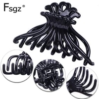 2 pcs plastic hair claw for lady pc ponytail holders strong bite force octopus crab for hair jaw clip women shower clip 8 5cm