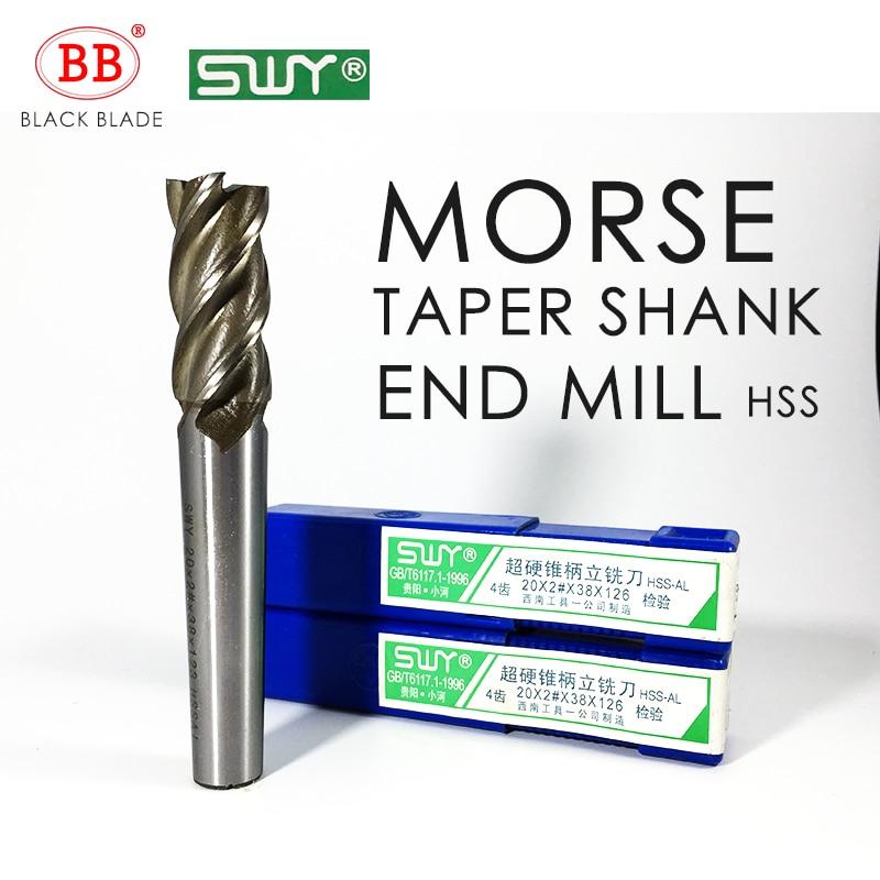 Fresa BB HSS Morse con mango cónico de 12mm a 40mm, fresa 2 #3 #4 # G126 K136 K146