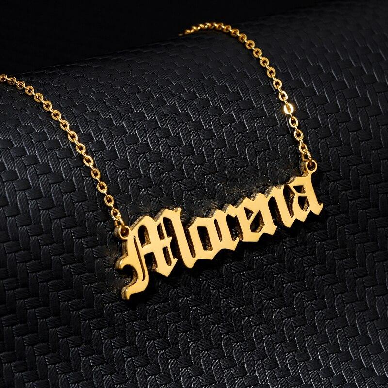 Ожерелье с именем на английском языке на заказ, ожерелье с именем на заказ, ювелирные изделия на заказ для женщин, мужчин, модные ожерелья 2019 ...
