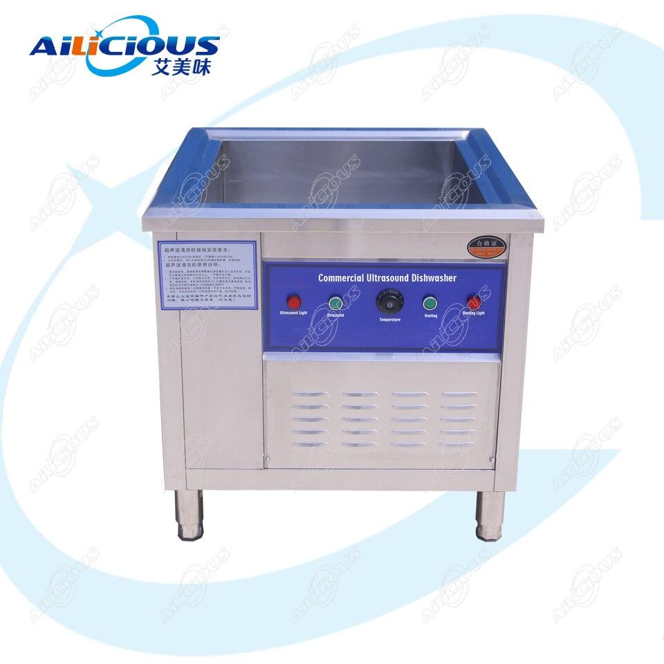 CSB60, limpiador ultrasónico para platos de cocina, máquina de lavado/ultrasonidos, limpieza de lavavajillas en cocina, acero inoxidable independiente