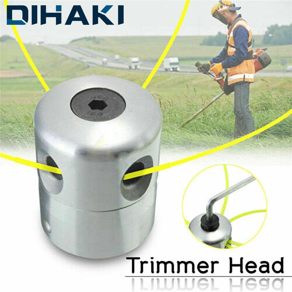 Cabeçote de alumínio para aparador de grama, conjunto de cabeças e cortador de grama, acessório substituível, universal, 1 peça