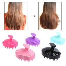 Silicone Scalp Shampoo Massage Brush Shower Bath Comb Hairbrush Soft Styling Tool Handheld Spa Massa