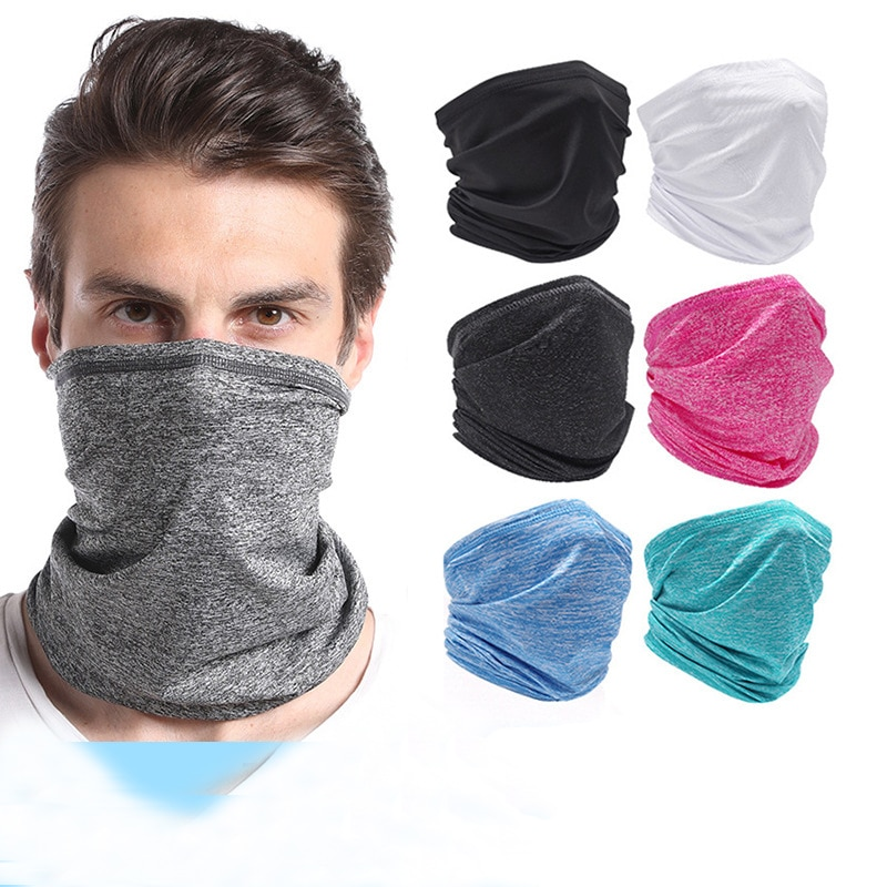 Cycling Neck Warmer Portective face Mask Summer Neck Gaiter Outdoor Running Neck Scarf Quick-Dry and Breathable Magic Turban