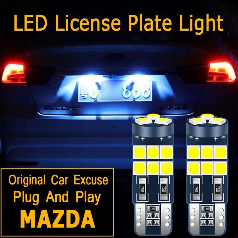 1Pcs Led Kentekenplaat Gloeilamp Lamp W5W T10 2825 Voor Mazda 6 Gg Gh 5 Mazda 3 8 CX-5 CX5 Rx8 RX-8 Cx 7 323 MX-5 Miata CX-9 CX3