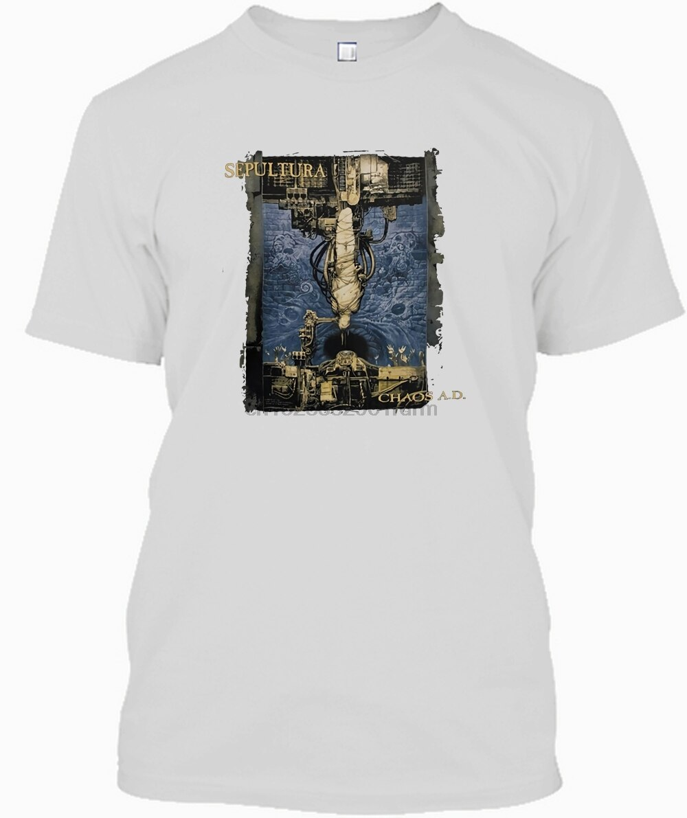New Summer Style Short Sleeve Men Premium Sepultura Chaos Mens T-Shirt O-Neck Tee Shirts  NVEZZLFT