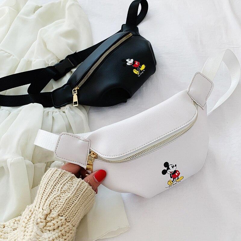 Disney's new children's chest bag cute cartoon Mickey messenger bag boy fashion wild girl shoulder bag small waist bag