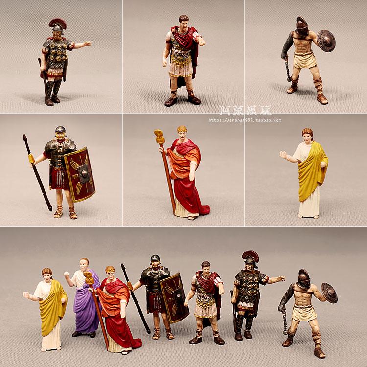 Средневековый замок, миниатюрная фигурка, Древний Рим, император, Цезарь, папа, миссионеры, Гладиатор, римский солдат, леди, модель, игрушки, Декор