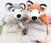 2020 new free shipping high quality baby toy animal hand puppet plush toys cartoon biological child baby for birthday gift
