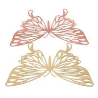 12 pieces ensemble 3D Stickers muraux papillon creux papier papillon autocollants pour mariage anniversaire maison chambre bricolage deco bebe douche Supplie