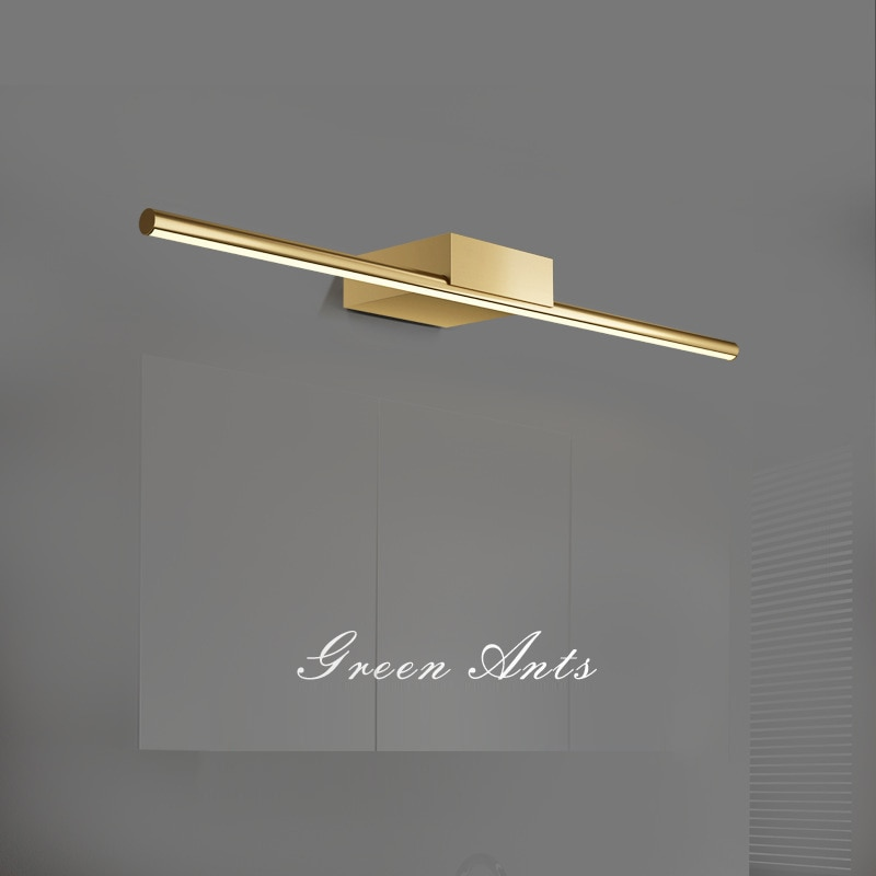 Bronze mirror front light post-modern bathroom mirror cabinet light bathroom makeup light vanity mirror led hotel lamps