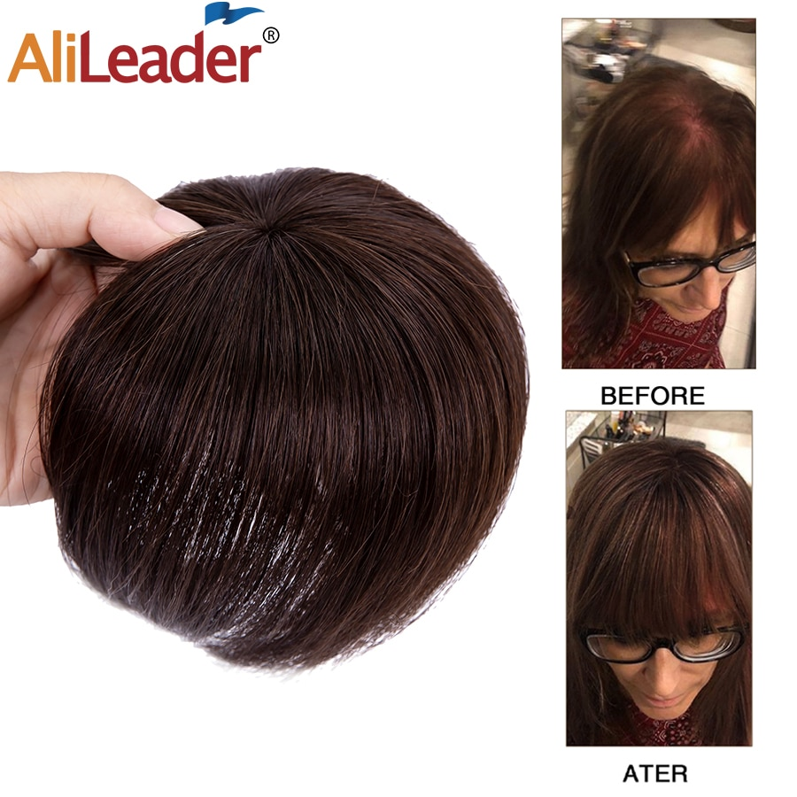 Alileader 17 CM Long Hair Clip In Hair Pieces For Women Natural Hair Pieces Black Brown Synthetic Hair Pieces Can Be Dyed cat wet food felix appetizing pieces of pauch for cats pieces in jelly lamb 24 85 g