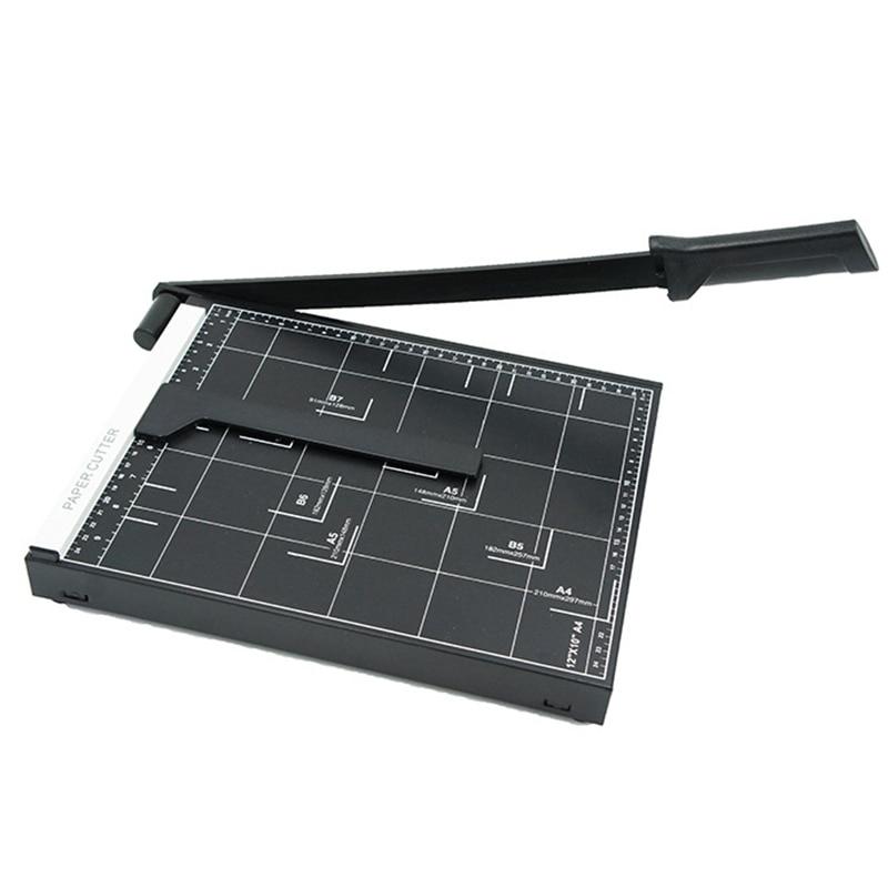 A4 مشذب الورق الثقيلة قاعدة معدنية الانتهازي شبكة ورقة صور آلة قطع 12 بوصة طول القطع 10 ورقة قدرة