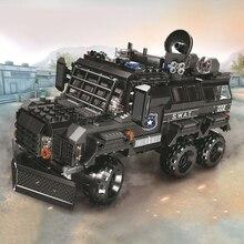 5122 Technic Car City WW2 Military Creator Armoured Riot Vehicles Building Blocks Bricks Kids Educational Toys For Children Gift