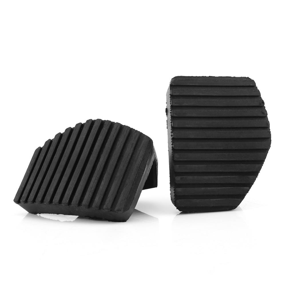 1 par negro Anti-superficie antideslizante diseño Pedal embrague freno cubierta de goma para Peugeot/Citroen/1007.207/208/2008/301/307/308/508