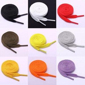 1Pair Colorful Flat Shoelaces Platte Waterproof Casual Shoes Laces Unisex Boots Shoelace Length  80 100 120 CM
