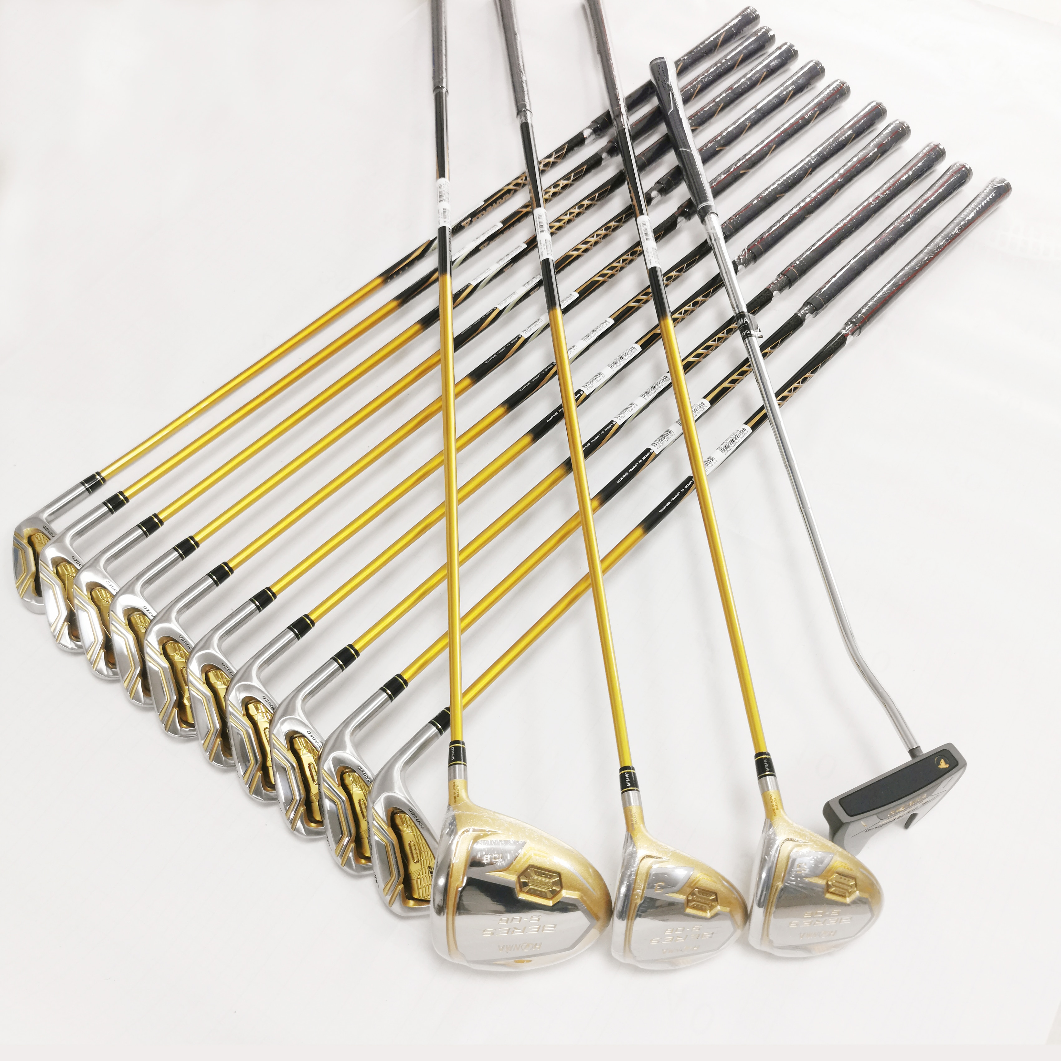New Men Golf Clubs Full Set Driver Fairway Irons Putter Complete Carbon or Steel Shaft Set No Bag Free Shipping