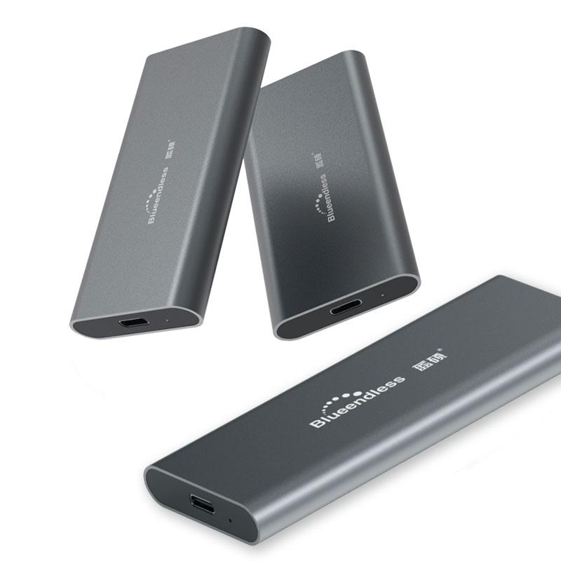M.2 portable SSD hard disk cases Type c usb 3.0 msata 2242/2260/2280 Hard Drive Enclosure  Aluminum HDD external hard drive box