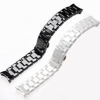 Ремешок для часов AR1400AR1410AR1403AR1402AR1401, браслет с черной, белой кнопкой-бабочкой, 18 мм 22 мм