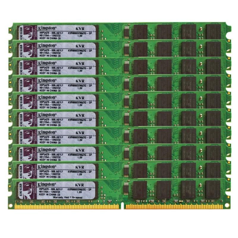 Juego de 10 Uds. De DDR2, 2GB, 800Mhz, PC2-6400, DIMM, PC de...