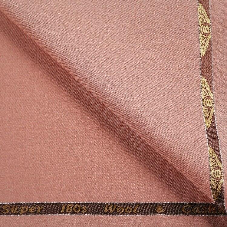 Пользовательские костюмы из 50% шерсти с 3% лайкры саржевой стиль цвет светло-лососевый цвет шерстяная ткань