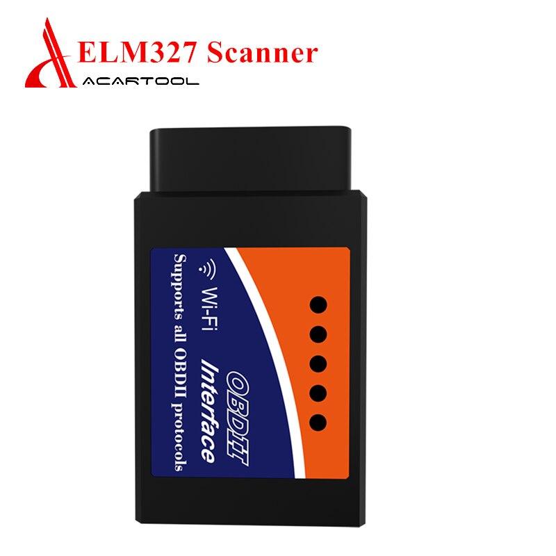 ELM327 V 1,5 WIFI Automotive OBD2 Scanner Code Reader 12V Auto Diagnose Werkzeug ULME 327 WIFI Für Android/IOS