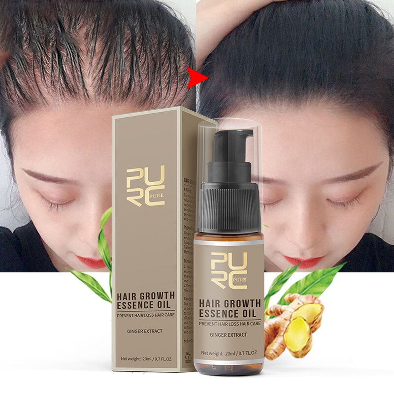 PURC Fast Hair Growth Oils Essence Health Hair Loss Treatment for Hair Growth Products Hair Care 20m