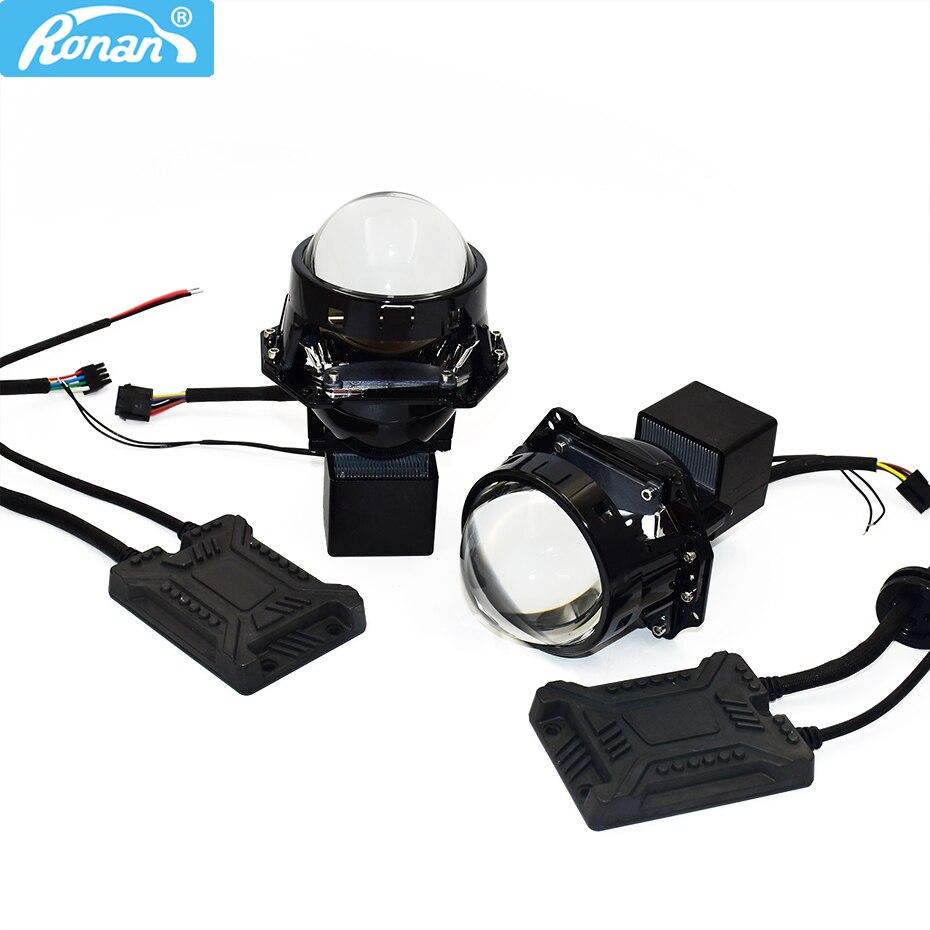 Ronan 3.0 biled lente do projetor farol inferior removível 6000k carro led projetor farol para motocicleta do carro retrofit
