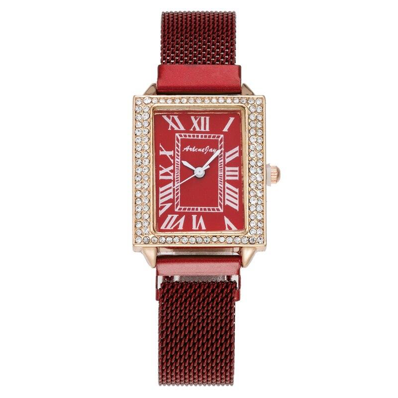 Новые женские часы, новые часы с магнитным ремешком «Миланская петля», модные часы