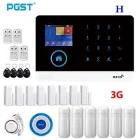Ptps WIFI  3G double modele maison cambrioleur systeme dalarme de securite APP controle avec detecteur de mouvement capteur de porte sirene sans fil