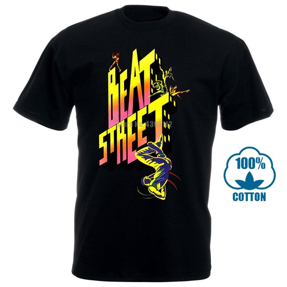 Beat Street Tshirt Old School Hip Hop Breakdance Comfortable T Shirt Casual Short Sleeve Print 100% Cotton Short Sleeve 011663