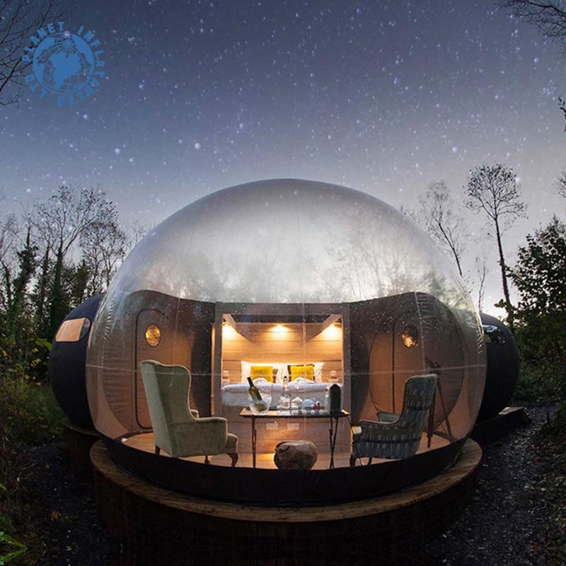 في الهواء الطلق جميلة نفخ فقاعة قبة خيمة 3M فقاعة فندق مع منفاخ مصنع الجملة شفافة فقاعة منزل رخيصة!
