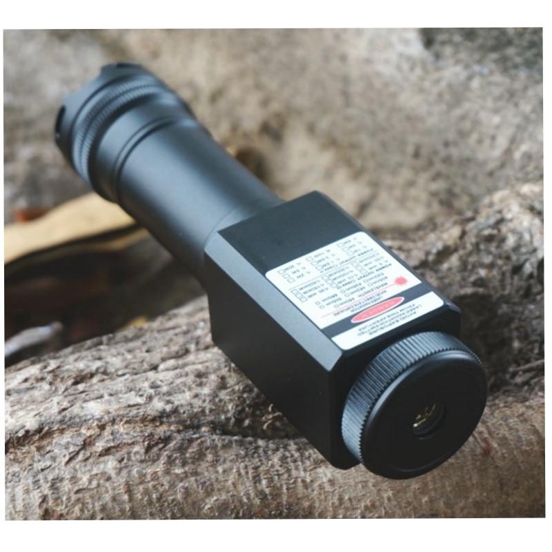 Waterproof 638nm Orange Red Light DS7 638T-1200 High Power Adjust Focus Red Laser Pointer Torch 5m enlarge