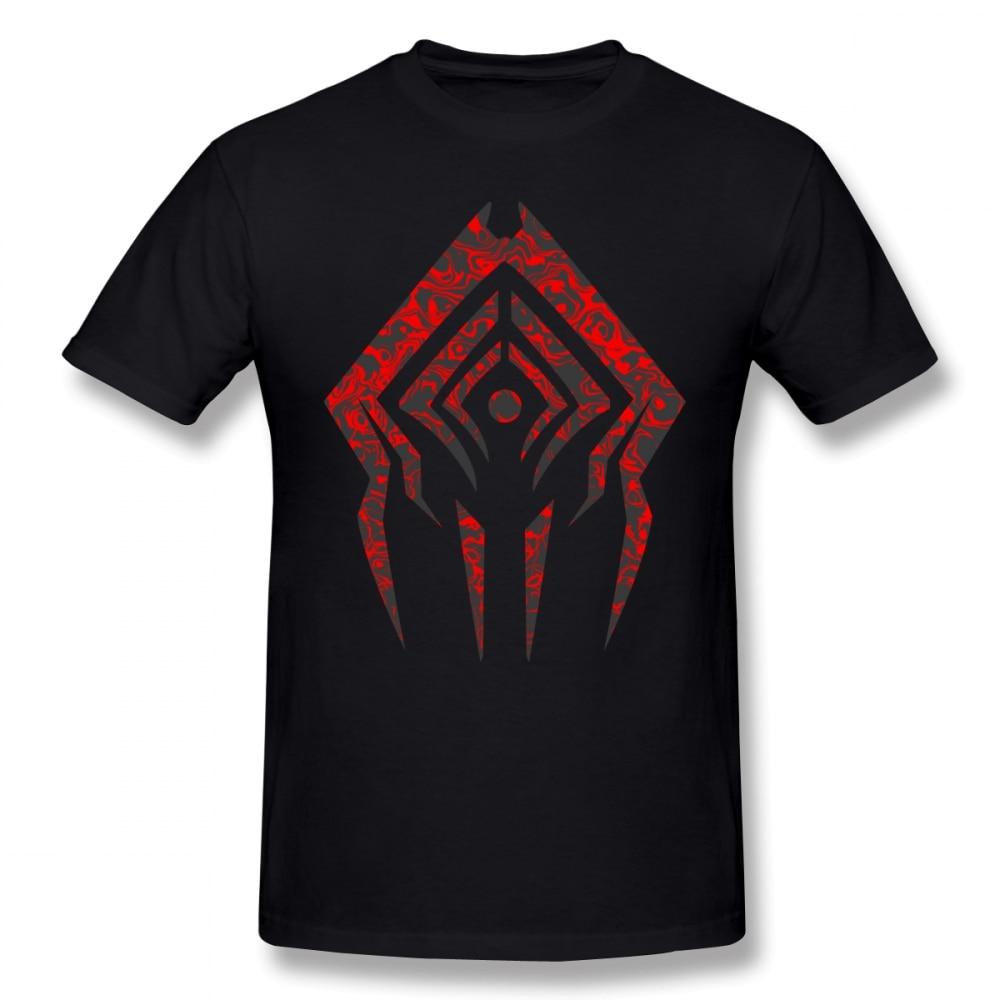 Warframe T Shirt Stalker Sigil T-Shirt Short-Sleeve Oversize Tee Shirt Casual 100% Cotton Funny Man Printed Tshirt